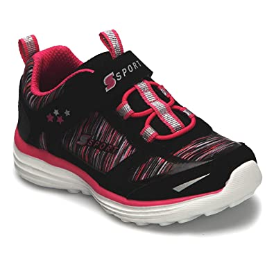 8bb11373a Madieles S Sport by Skechers Toddler Girls  Tyro Performance Athletic Shoes  - Black Pink