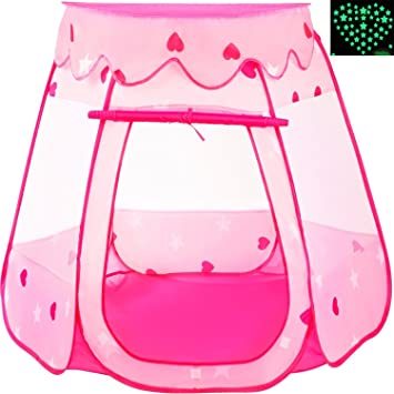 Playz Ball Pit Princess Castle Play Tents for Girls w/ Glow in the Dark Stars  sc 1 st  Amazon.com & Amazon.com: Playz Ball Pit Princess Castle Play Tents for Girls w ...