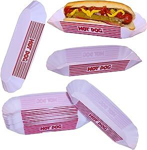 Hot Dog Dish Set, Hot Dog Dishes, Hot Dog Trays, Hot Dog Holders, Hot Dog Serving Dish Trays Reusable (12 Pieces, Classic)