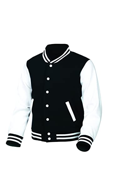myglory77mall Cotton Baseball Varsity College Letterman Raglan Jacket 626 Black US XXS(S Tag)
