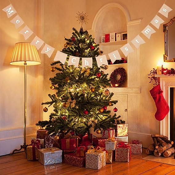 Banderas de la Navidad, Bandera de la Decoración Merry ...