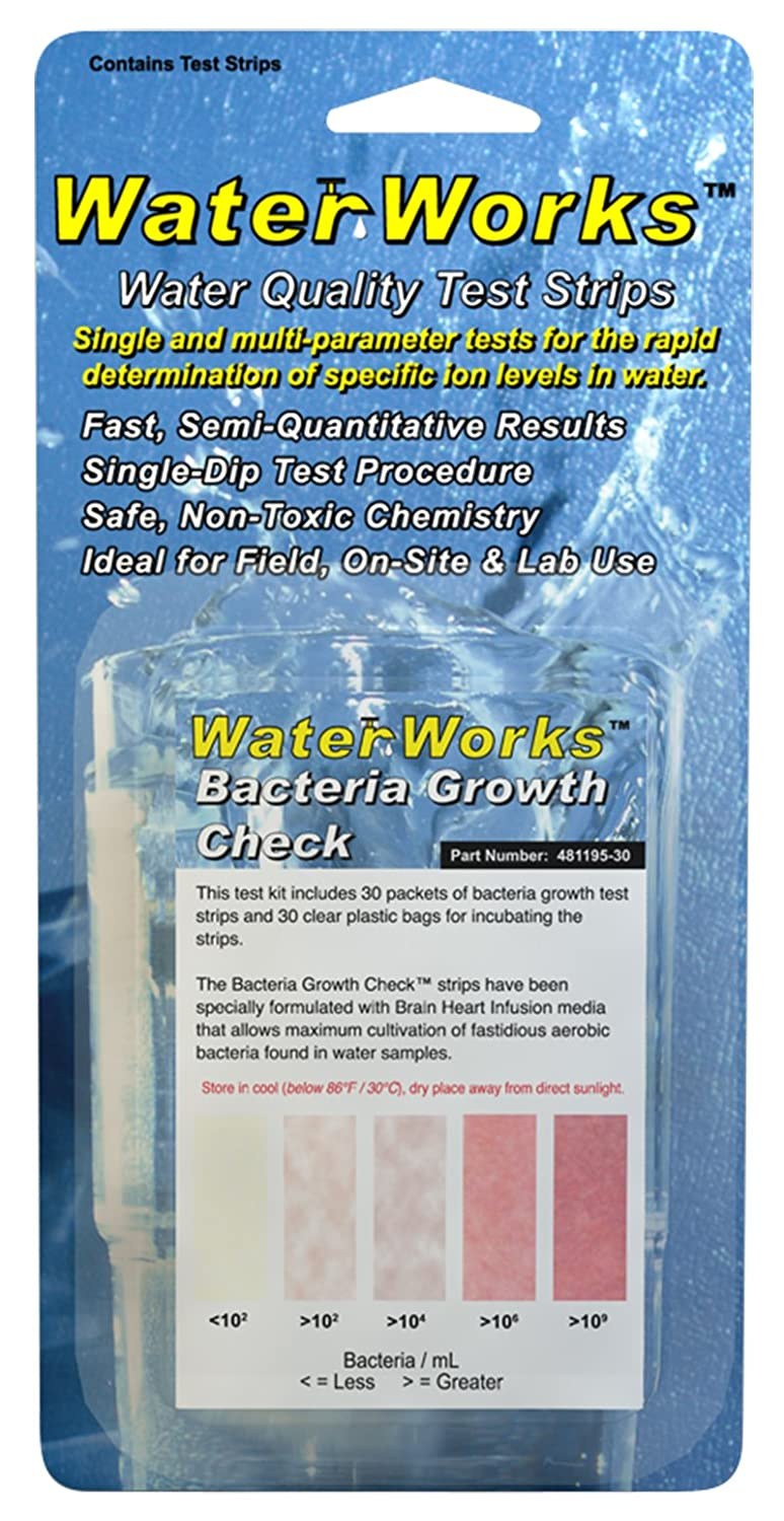 Industrial Test Systems Waterworks 481195 30 Bacteria Growth Check Voucer 3second Persen Testswater Quality Strips Science Lab Water Purification System Accessories