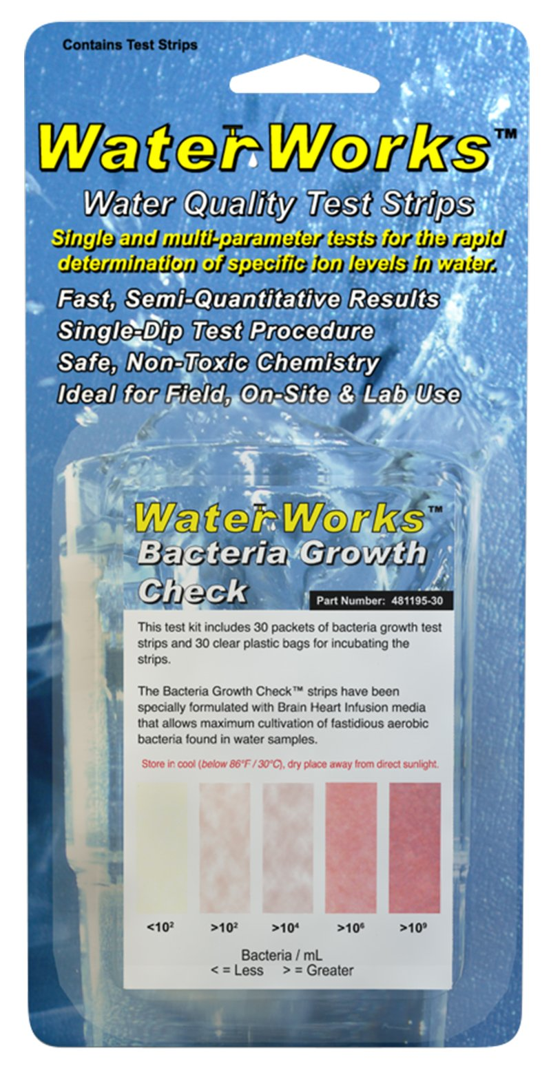 Industrial Test Systems WaterWorks 481195-30 Bacteria Growth Check, 30 Tests(Water Quality Test Strips)