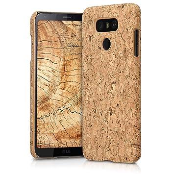 kwmobile Funda para LG G6 - Carcasa Protectora de [Corcho] para teléfono móvil - Cover [Trasero] rígido y Resistente