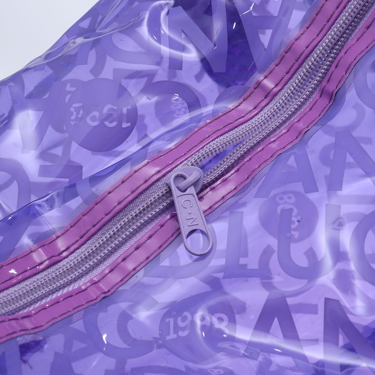 VORCOOL Jelly Bag Confectionery Color Swimming Special Bag Waterproof Portable Letter Handbag for Ladies Purple