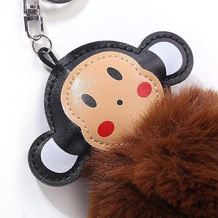 Amazon.com  Mens car Key Chain Fluffy Artificial Bunny Fur Ball ... 9ab02b6222