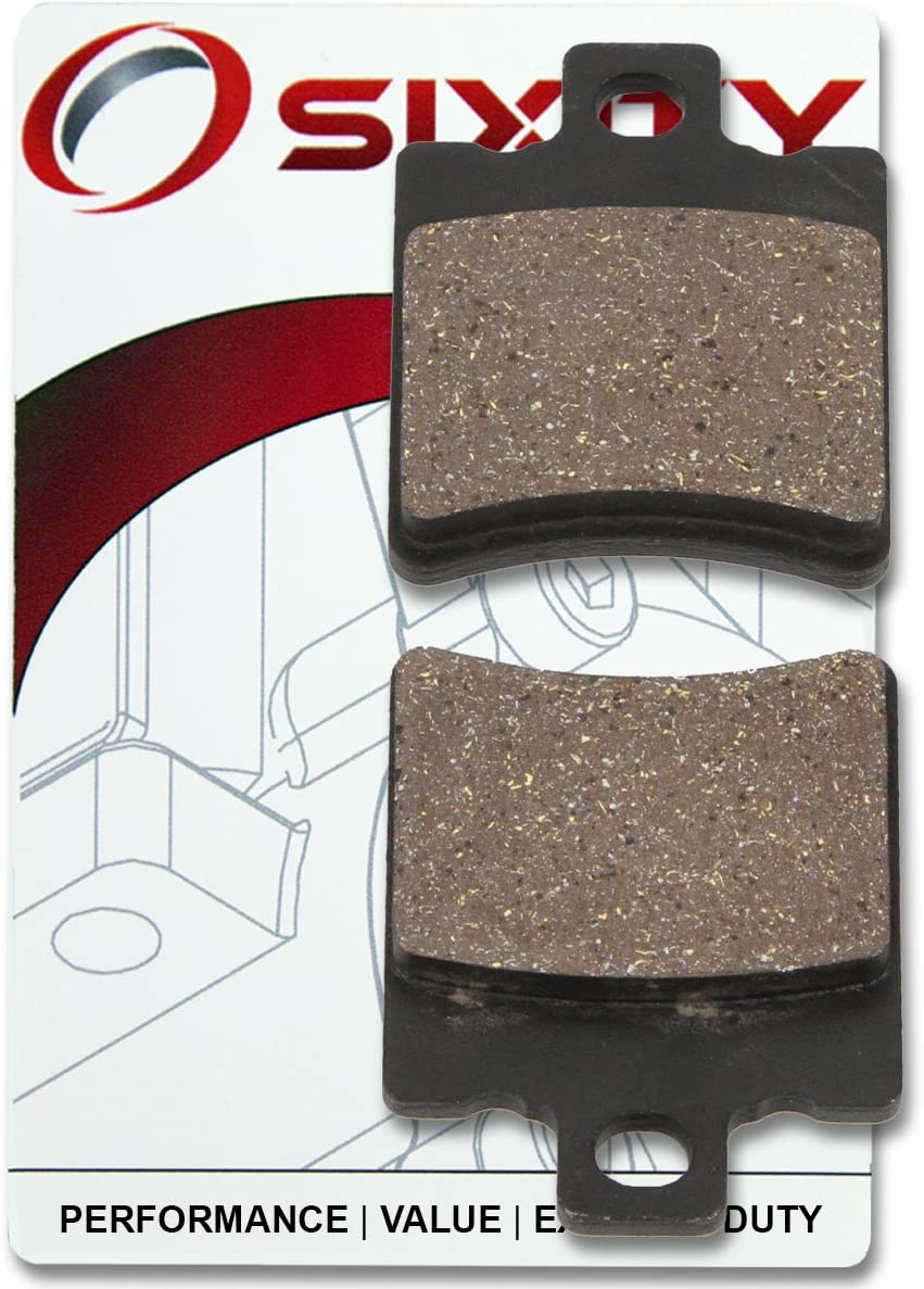Sixity Front Organic Brake Pads 2000-2001 for Yamaha CW50 Zuma II Set Full Kit M N Complete