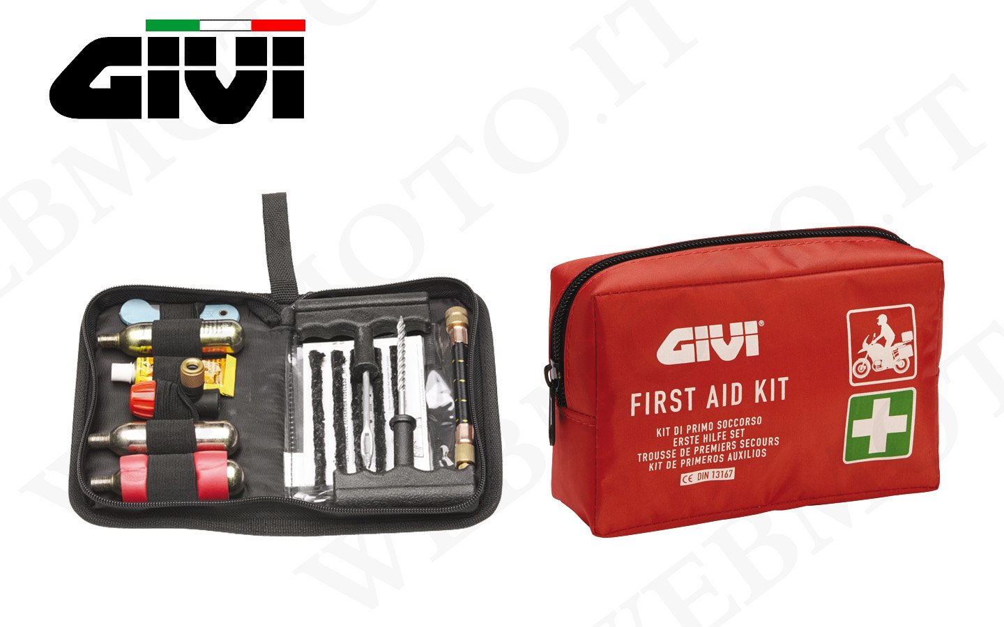 First Aid Kit GIVI Safety Moto Mobile S301and Borsello Repairs Erasers tubeles S301+ S450