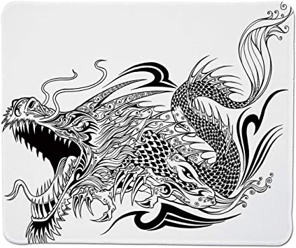 Yanteng Gaming Mouse Pad Dragon, Estilo del Tatuaje Criatura alada ...