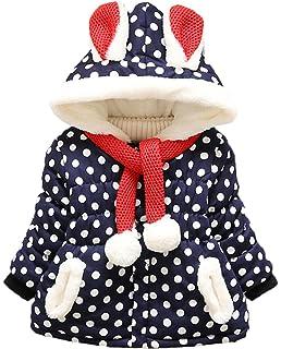 Scothen Baby M/ädchen Winter Jacke Kinderjacken mit ohren warmer Mantel Jacke Dicke warme Kleidung Babys Jacken Kapuzenjacke M/ädchenjacke Kapuzen Kaninchenohren Baby Mantel 0-3 Jahre