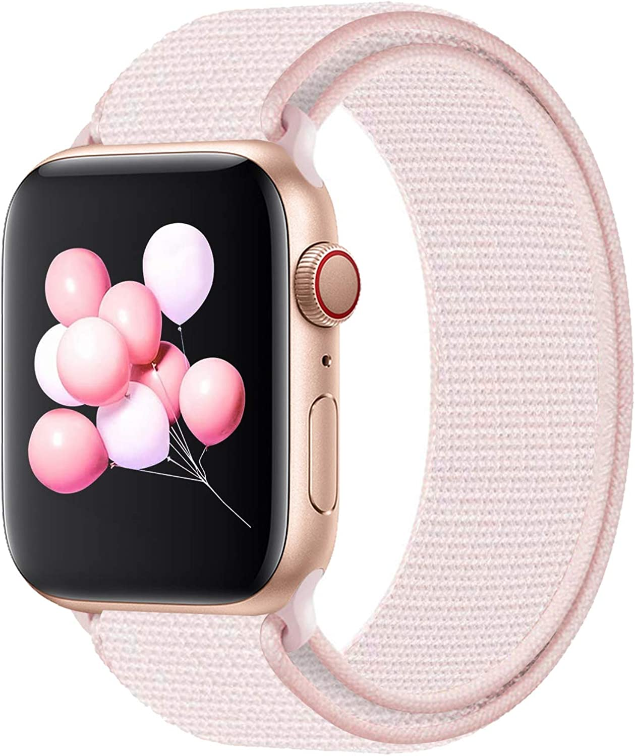 Youther Compatible with for Applle Watch Band 38mm 40mm 42mm 44mm, Soft Adjustable Lightweight Replacement Wristbands Compatible with for iWatch Series 6 5 4 3 2 1 SE
