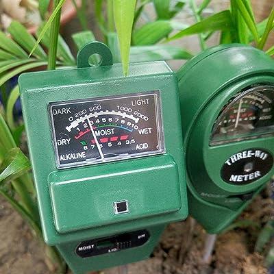 3 in Soil Water Moisture 1 PH Tester Soil Detector Water Moisture Light Test Meter Sensor for Garden Plant Flower: Sports & Outdoors
