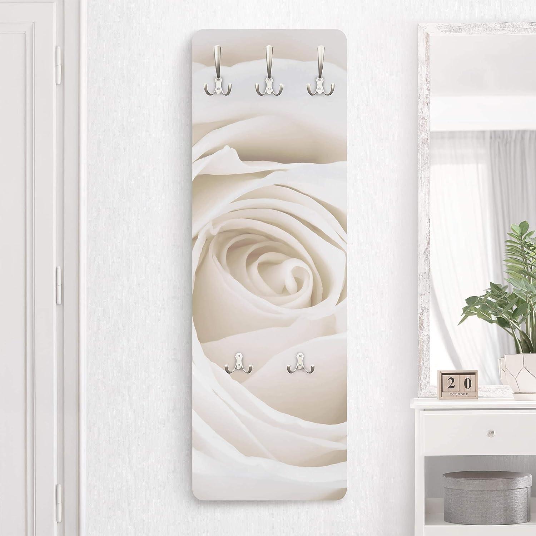 Appendiabiti /Pretty White Rose 139/x 46/x 2/cm,/ Appendiabiti da Parete Dimensioni Hxw: 139/cm x 46/cm Appendiabiti Appendiabiti da Parete attaccapanni /Appendiabiti Apalis Appendiabiti/