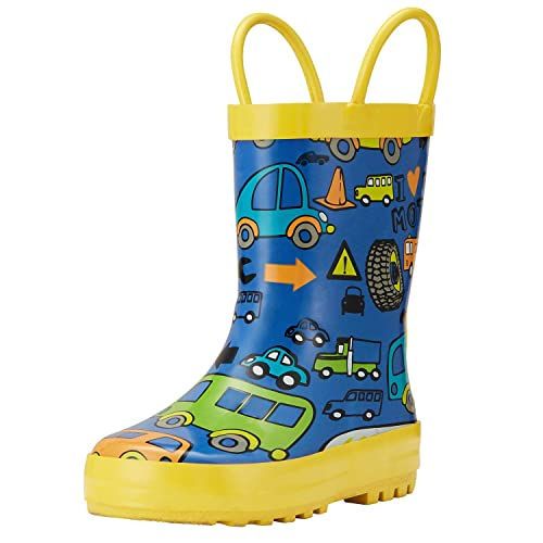 nice shoes official site competitive price ADAMUMU Rain Boots Toddler Children's Waterproof Rubber Shoes with Easy-On  Handles for Boys & Girls in Dinosaur Patterns, Various Prints and Different  ...