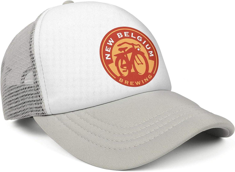 Adjustable Baseball Cap Fit Trucker Hat Mesh Comfortablecaps Mens New-Belgium-Brewing-.-Logo