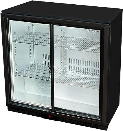 Cristal de Puerta de Frigorífico 90 x 90 x 52 cm | getränkekühlsc hrank con puerta corredera, botella de refrigeración, cerveza, sistema de refrigeración gewerbe Frigorífico con 208 L nevera Volumen |