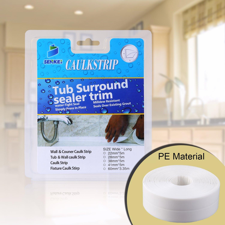 Amazon.com: Caulk Strip, Oumers PE Strong Self Adhesive 1-1/2 x 17 ...