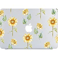 Lapac MacBook Air 13 pulgadas Case 2018 Release A1932, Rose Flower Clear Case, Soft Tough Frosted translúcido carcasa rígida para MacBook Air 13 pulgadas & Retina Display Fits Touch ID, Littlesunflower