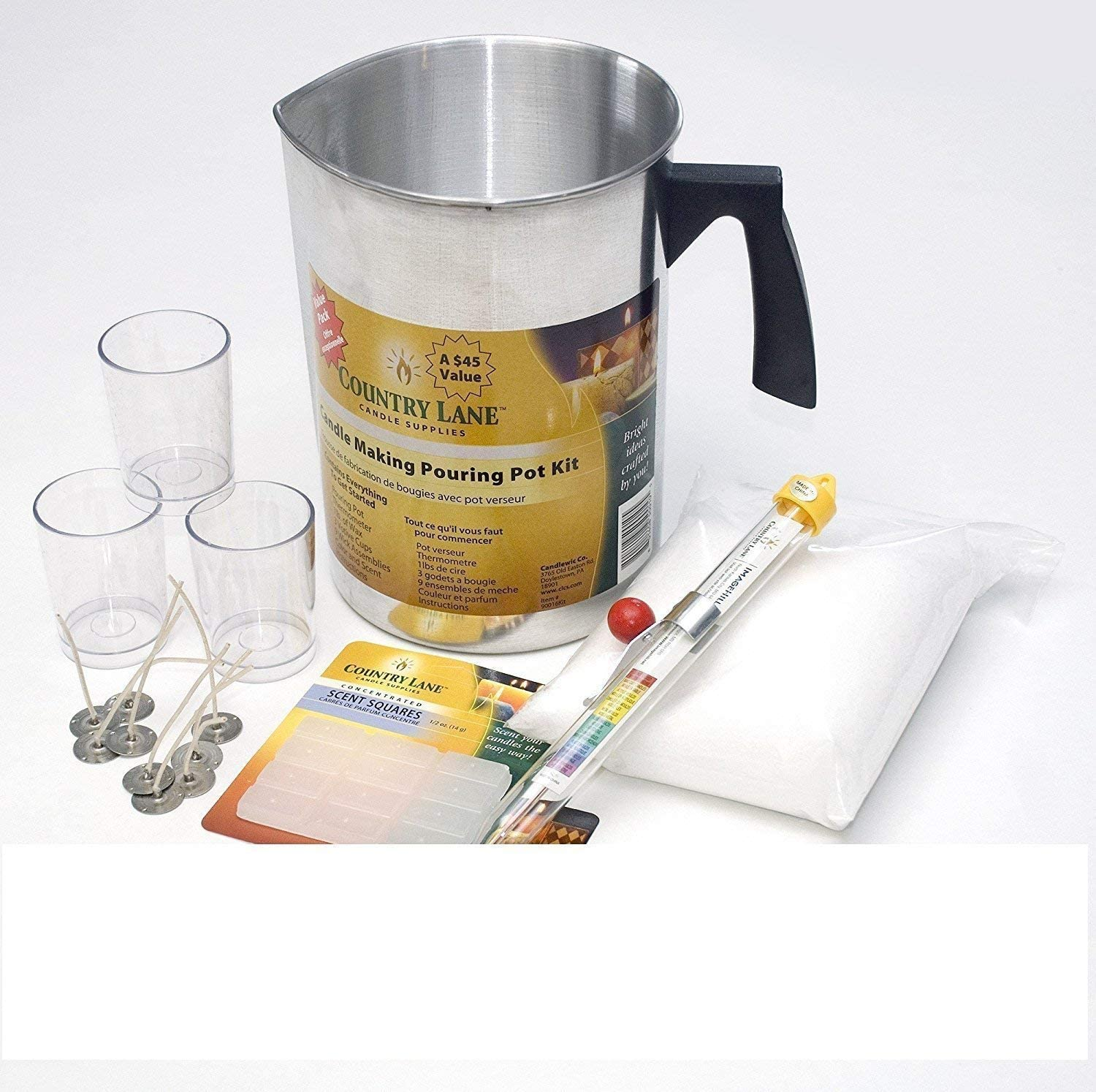 Country Lane IH90017 Soy Candle Making Kit Natural Soy Kit free shipping new