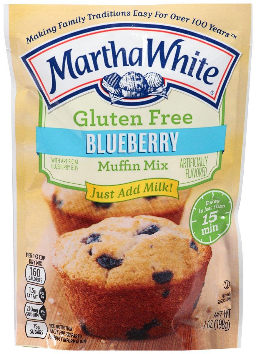 Martha White Gluten Free Blueberry Muffin Mix 7 oz (Pack of 6) by Martha White