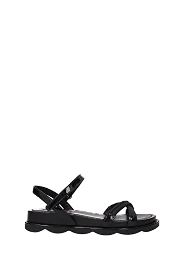 a524796ad Prada Sandals Women - Patent Leather (3X6285NERO) 8 UK  Amazon.co.uk ...