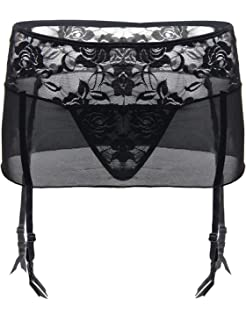 582a9068e6b ohyeahgirl Womens Plus Size Suspender Belt with Adjustable Straps Ladies  Sexy Lingerie