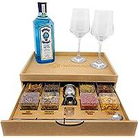 Bandeja Kit Gin Tônica 8 Especiarias com Gaveta