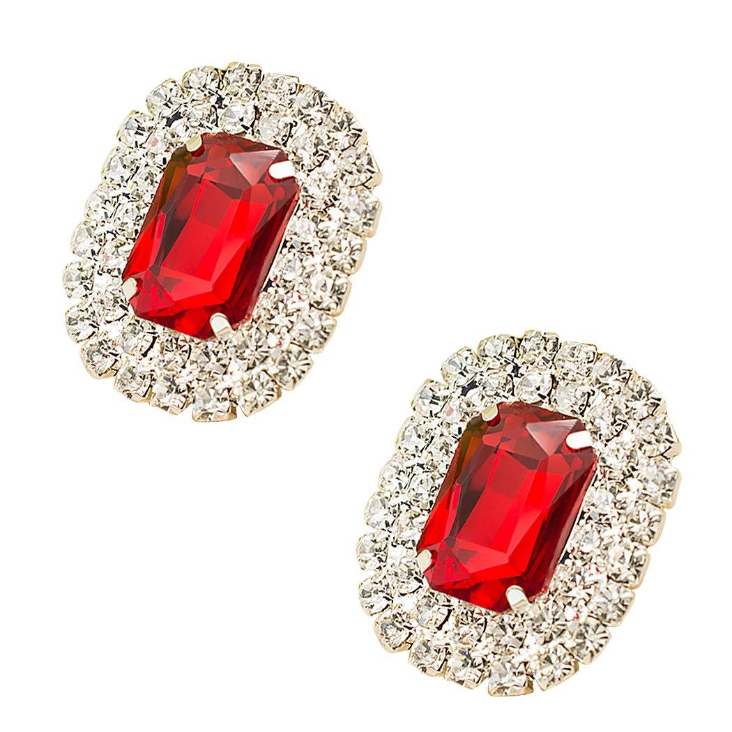 Lot de 2 boucles TOOKY - Pierre de cristal - Boucles pour chaussures, sac, robe ou décoration de fête TOY-3