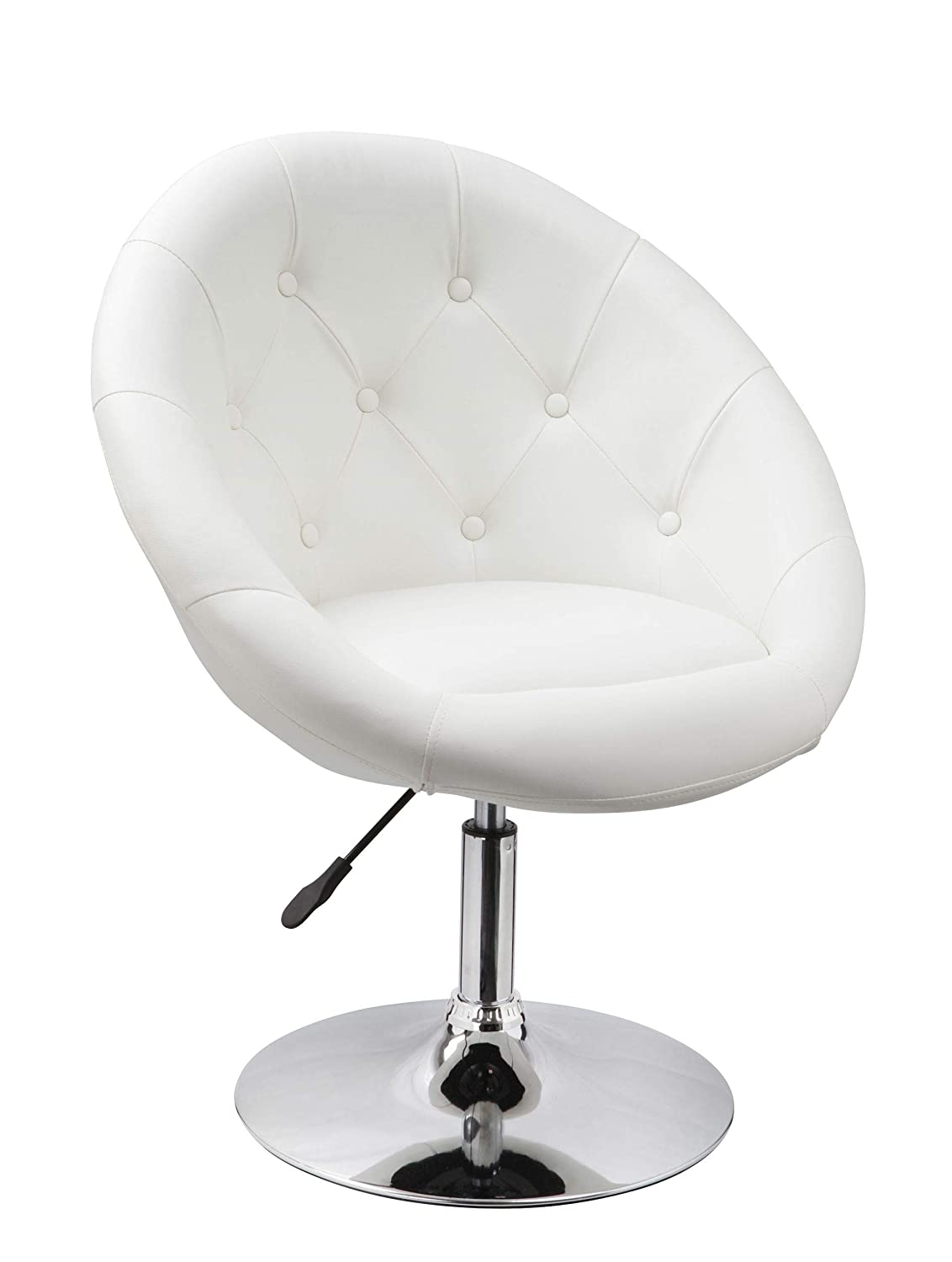Armchair White Club Chair Lounge Chair Faux Leather Dining Chair Height Adjustable Duhome 0332 Duhome Elegant Lifestyle®