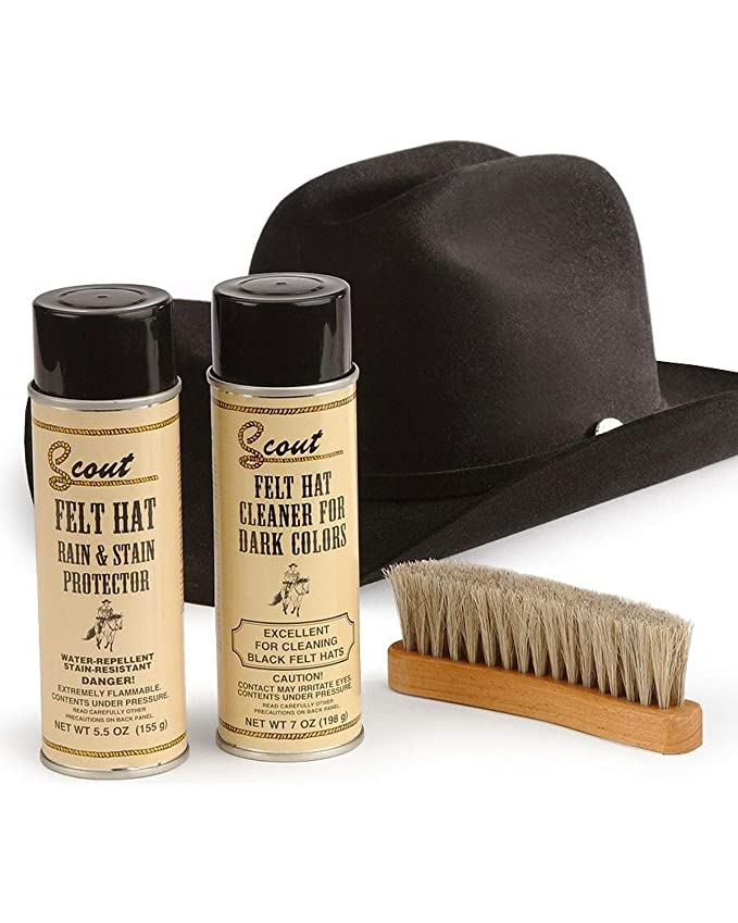 SCOUT M F Foot and Headwear Mens MF Felt Hat Care Kit for Dark Colors at  Amazon Men s Clothing store  Cowboy Hats 10584a3d73e4