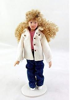 Melody Jane Casas de Muñecas Miniatura Victoriano Joven Dama Niña personas Porcelana RD