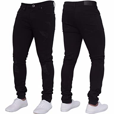 b261baca7a62d0 Image Unavailable. Image not available for. Color: SySea Mens Ripped Long Skinny  Slim Fit Jeans Comfy Stretch Fashion Biker Jean Pants With Holes