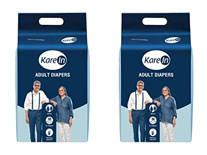 Kare In Adult Diapers Medium 10 Count, Waist Size 76-114cm (30