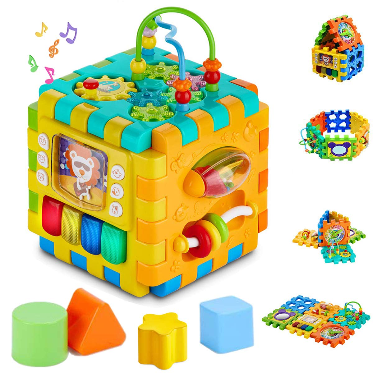 ELC Wooden Shape Sorter Kids Learning Activity Toys Birthday Christmas Gift