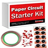 Paper Circuits Kit w/ Project Book PDF (10 Student Makerspace Pack) – Includes Project Book Download, Copper Tape, LEDs and Coin Cell Batteries.