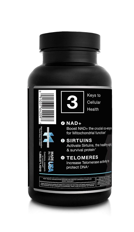 N (R) Niagen Nicotinamide Riboside - 60 capsules by High Performance Nutrition: Amazon.es: Salud y cuidado personal