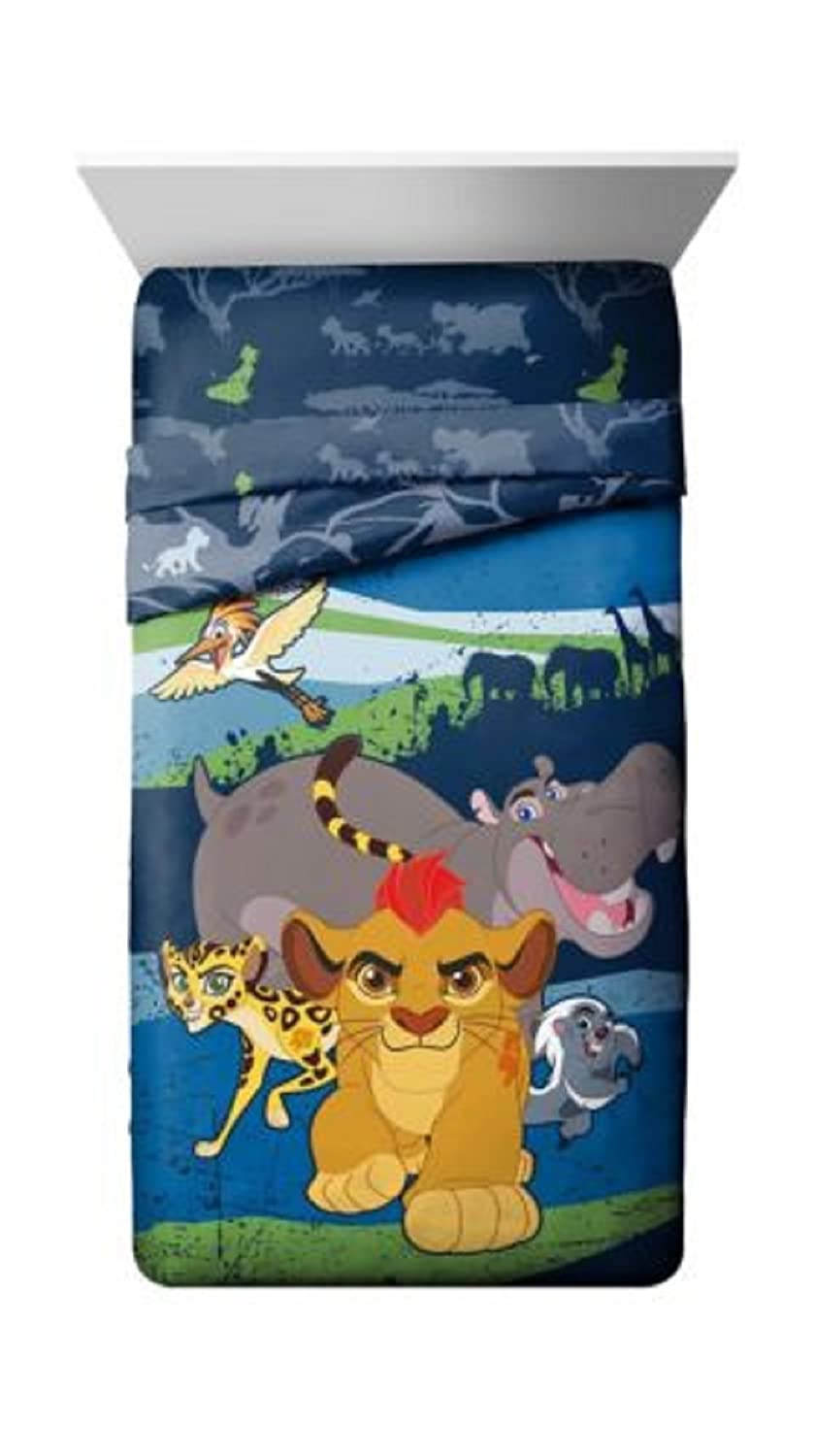 Jay Franco & Sons The Lion Guard Twin Reversible Comforter set-comforter、実物 B07DNZH9Y5