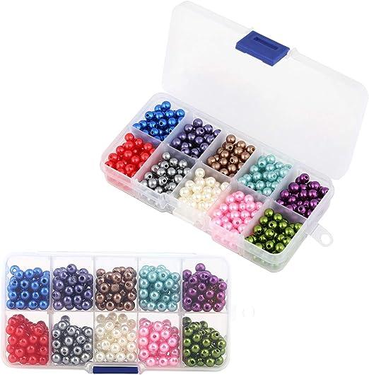 Naler 500 Abalorios de Perlas de Plástico de Colores para ...