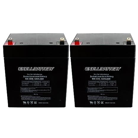 Amazon.com: New 2pc 12 V 5 Ah F1 SLA Razor Elektroroller ...