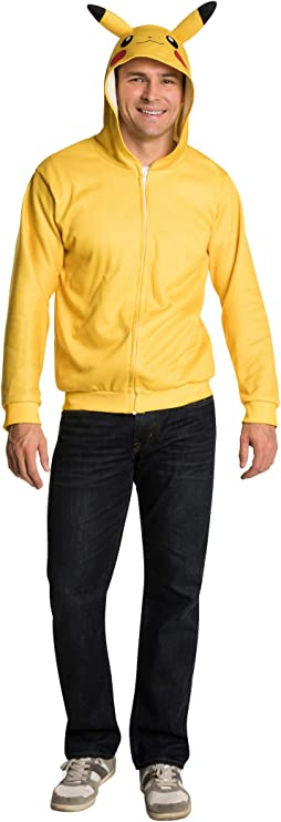 Rubies Pokemon Pikachu Costume Hoodie Adult Standard: Amazon.es ...