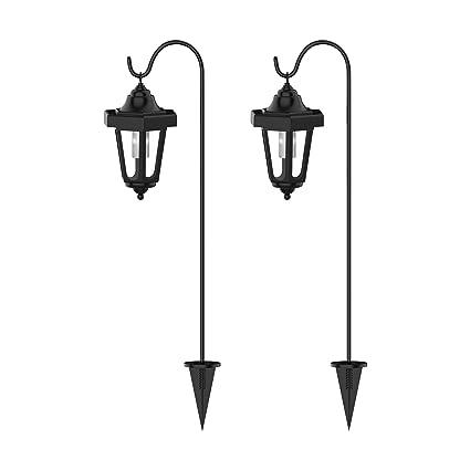 "Amazon.com : Pure Garden Solar Powered Lights-Set of 9, 39"" Hanging ..."