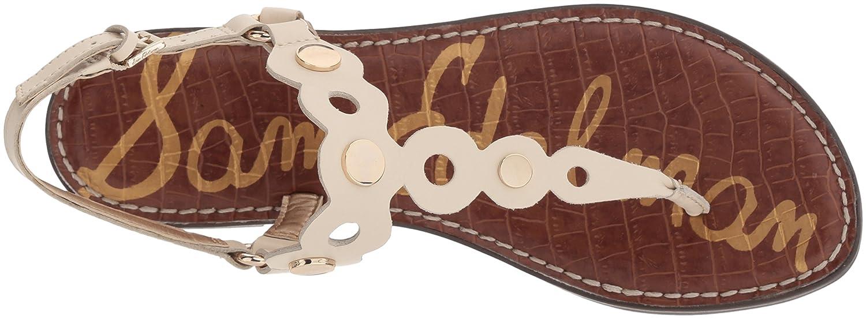 Sam Edelman Women's Gilly Flat Sandal B076JHVR14 7 B(M) US|Modern Ivory
