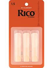 Rico 1.5 Strength Reeds for Bb Clarinet (Pack of 3)