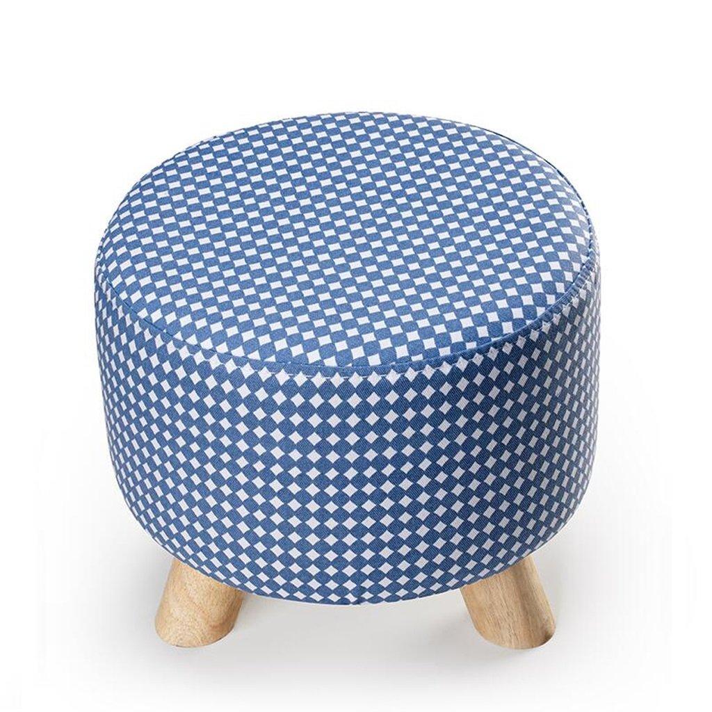 vendiendo bien en todo el mundo Rollsnownow Light azul Little bit Round Footstool se Puede Puede Puede Lavar y Lavar Cambiar The zapatos Stool Cloth Sofá de Tela  hasta 60% de descuento