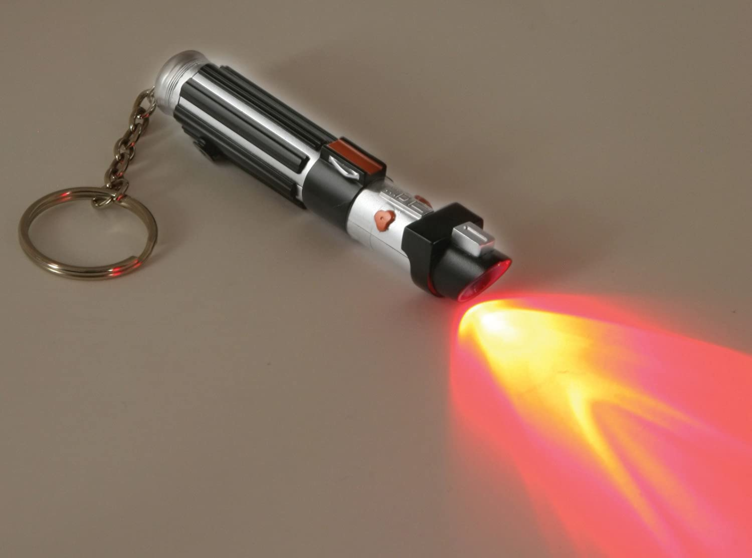 Amazon.com: Star Wars Darth Vader Lightsaber Key Ring Torch: Clothing for How To Make A Lightsaber Out Of A Flashlight  568zmd