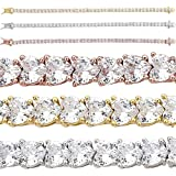 10mm Wide Two Row Iced Flooded Out Cz Bracelet Natural Silver Or 14k Yellow Or Rose Gold Finish Harlembling Solid 925 Sterling Silver Tennis Bracelet
