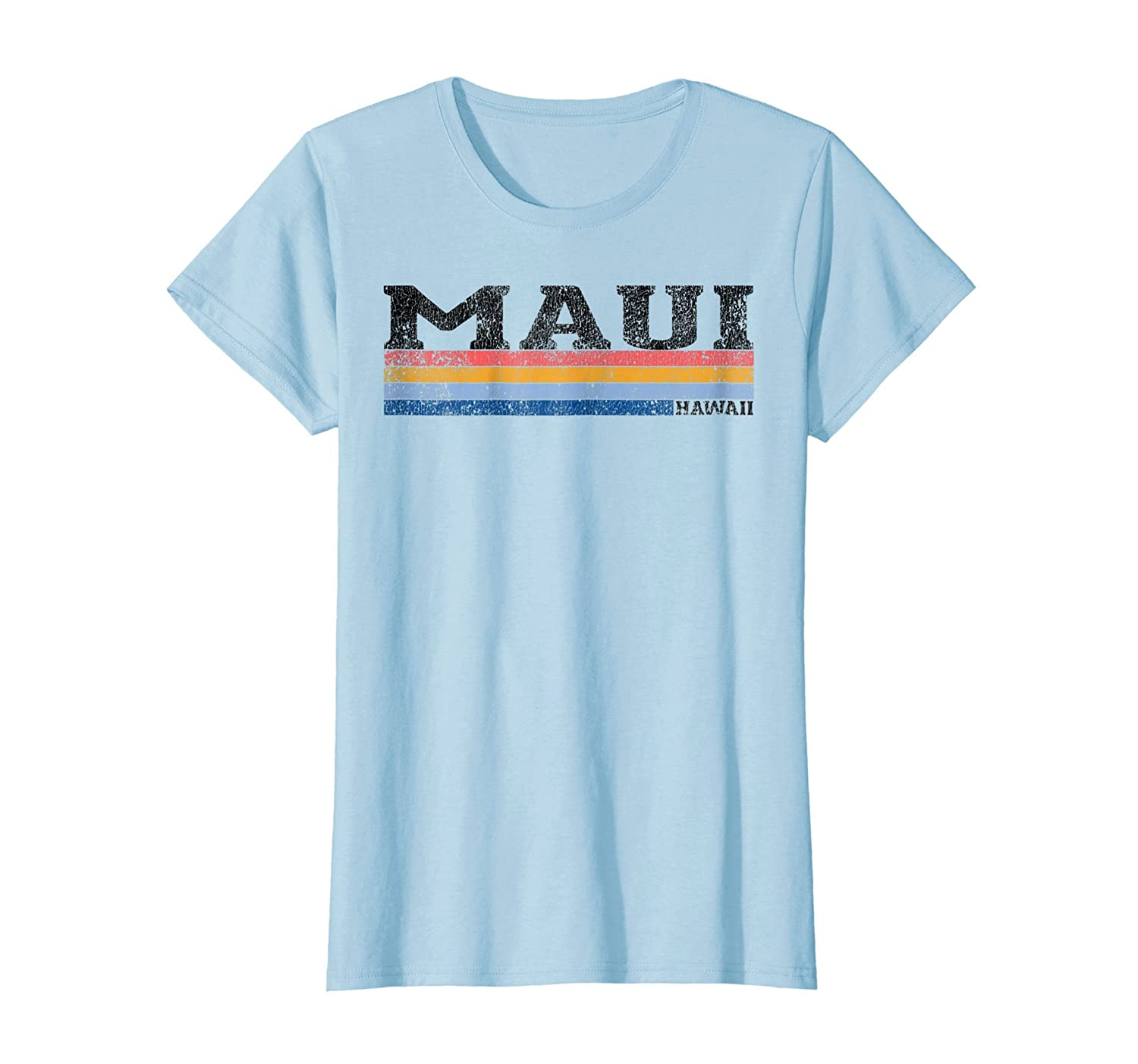 Vintage 1980s Style Maui Hawaii T-Shirt-Newstyleth
