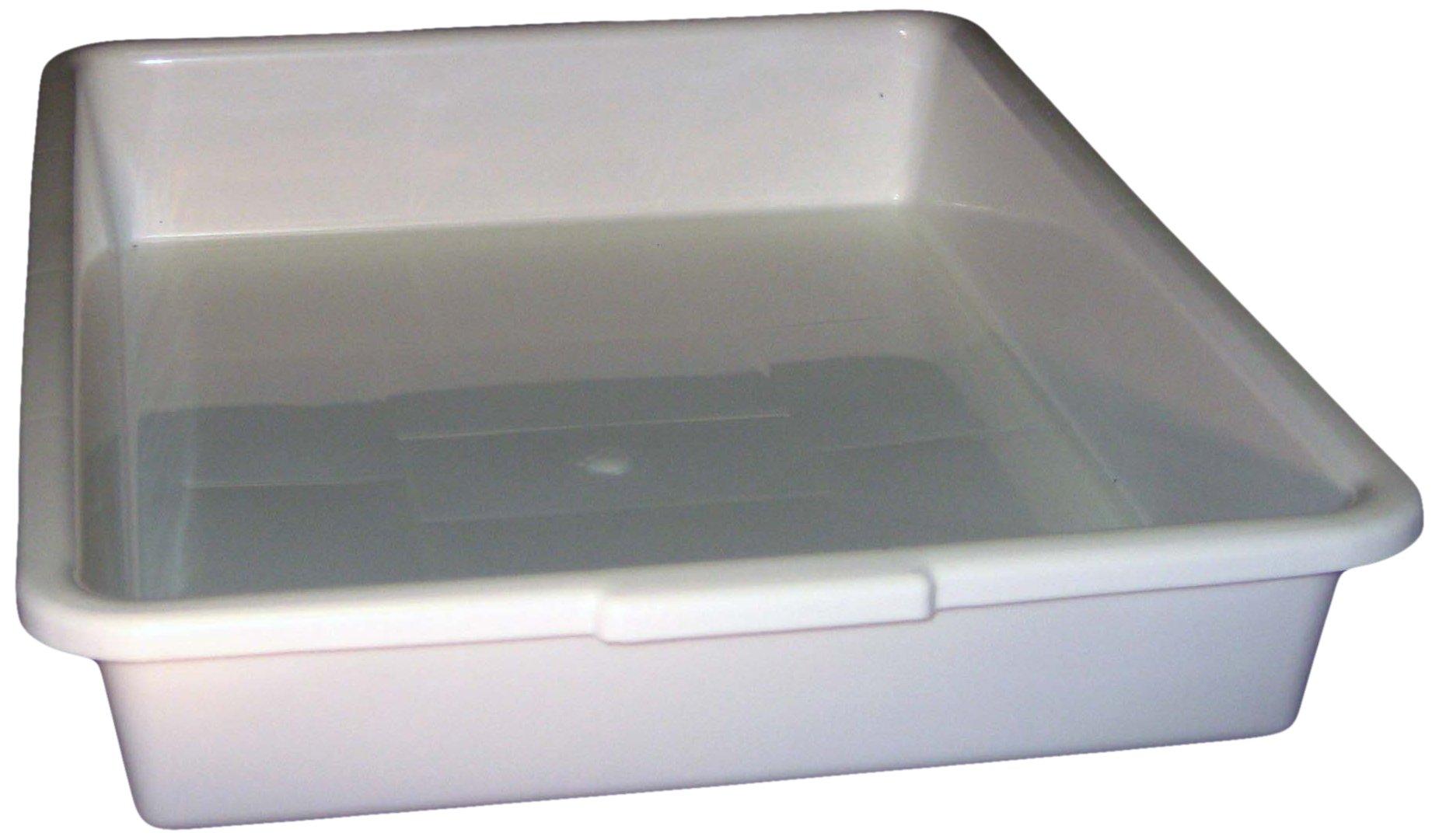 PSC 1007176 General Purpose Tray, Autoclavable, Polypropylene, 18'' x 14'' x 3'', White