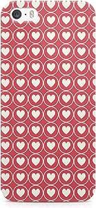 Loud Universe Valentine Hearts Pattern Durable Sleek Wrap Around iPhone 5s Case - Red