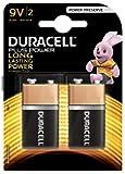Duracell Plus Power Pila Alcalina 9V, paquete de 2